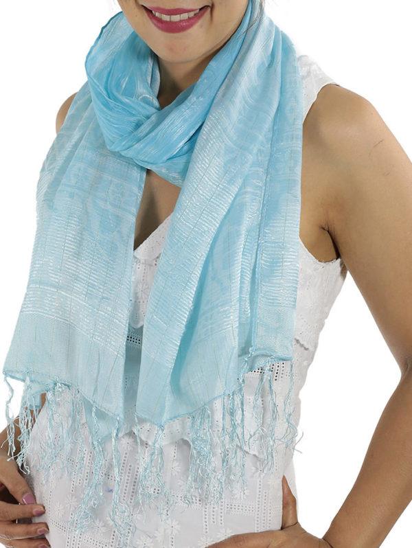 Baby Blue Silk Scarfs