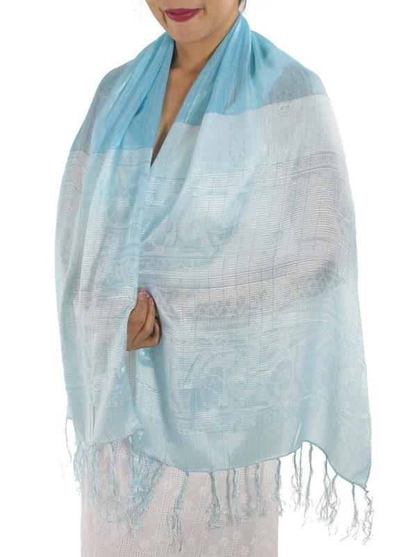 Baby Blue Silk Wrap