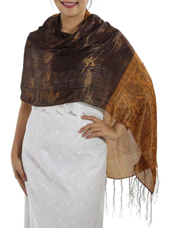 Brown Silk Wrap
