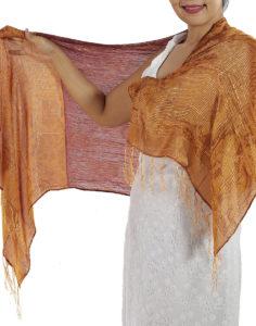 Burgundy Silk Scarf