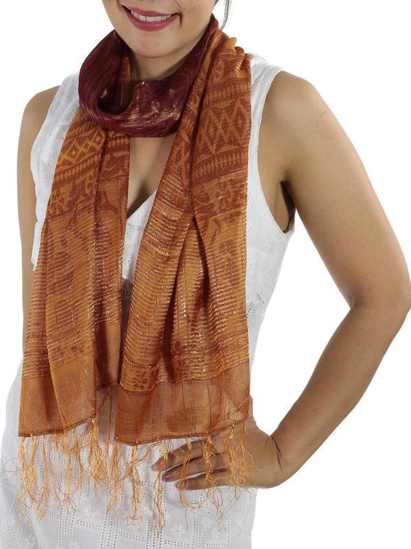 Burgundy Silk Scarfs