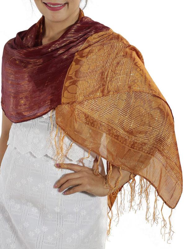 Burgundy Silk Wrap