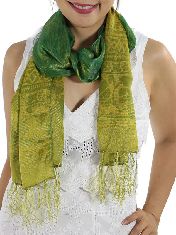 Green Silk Scarfs