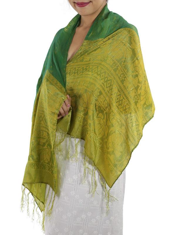 Green Silk Shawl