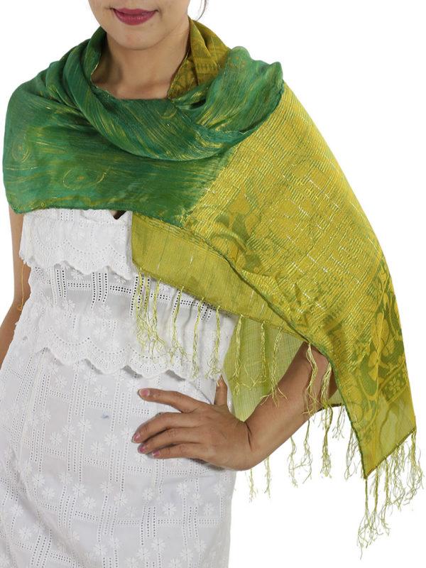 Green Silk Wrap