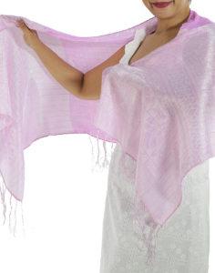 Pink Silk Scarf