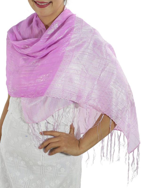Pink Silk Wrap