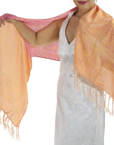 Rose Silk Scarf