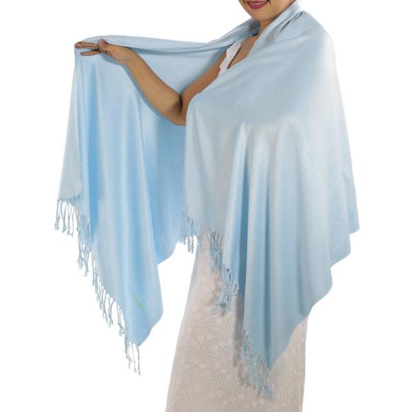 baby blue pashmina scarf