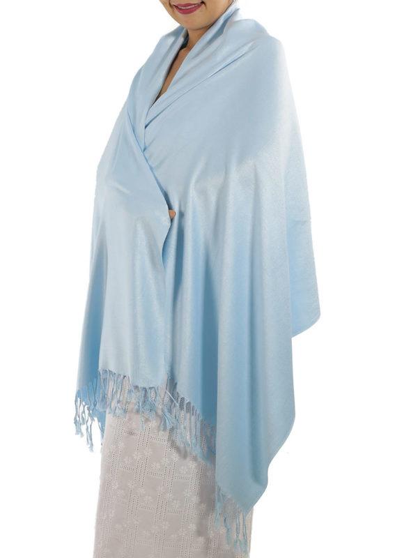 baby blue pashmina shawl