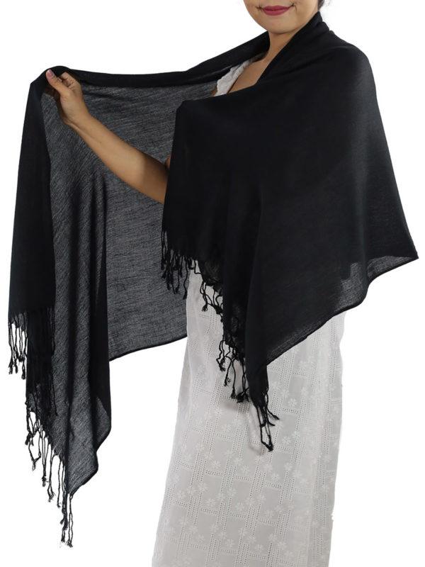 black cashmere scarf 1