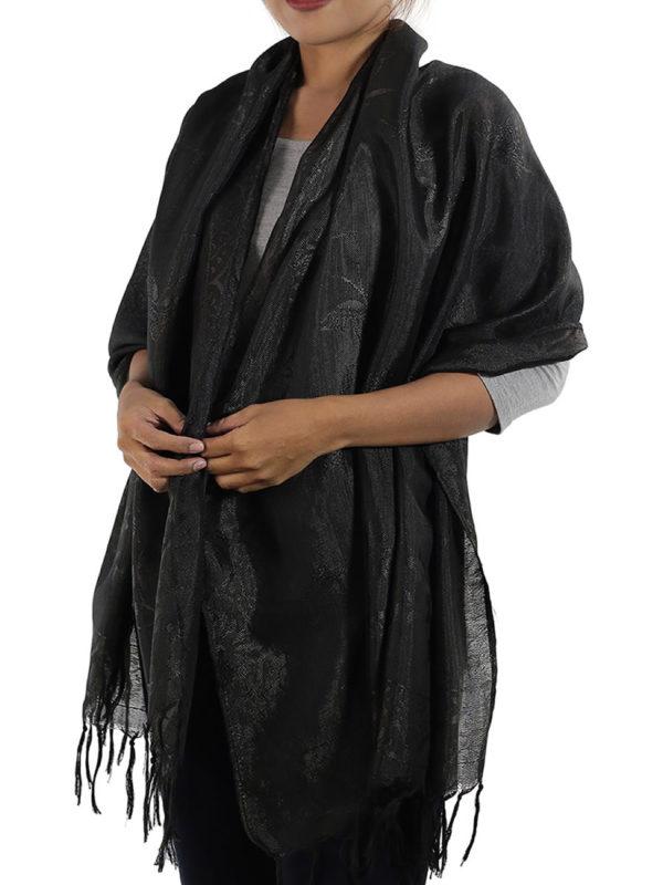black shawl from thailand