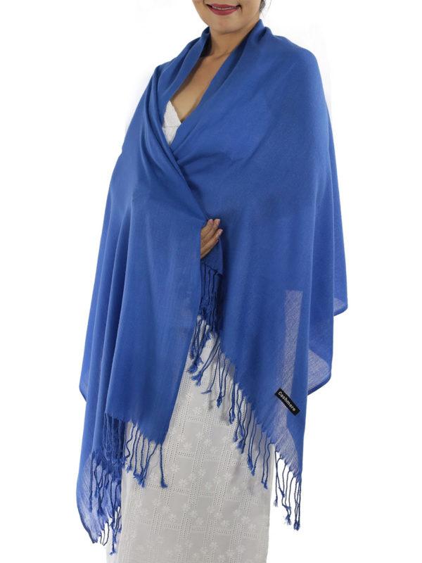 blue cashmere shawl
