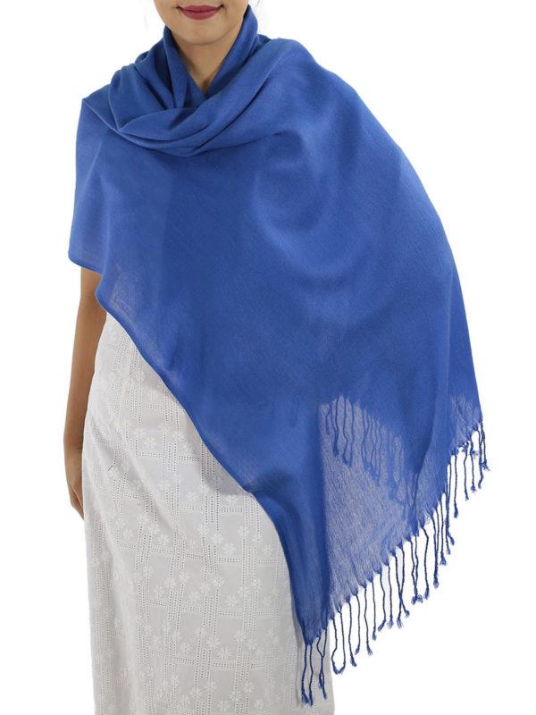 blue cashmere wrap