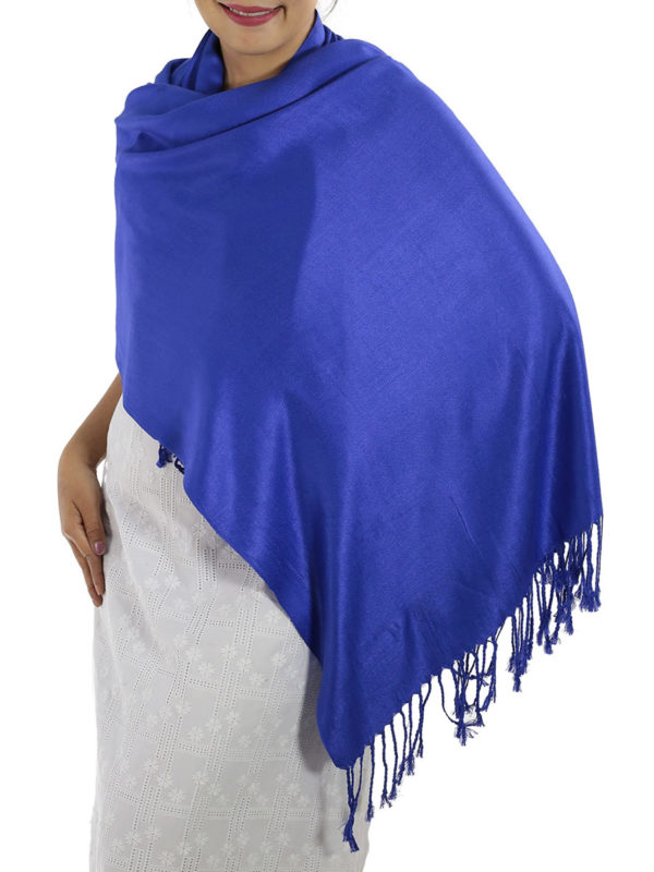 blue pashmina wrap