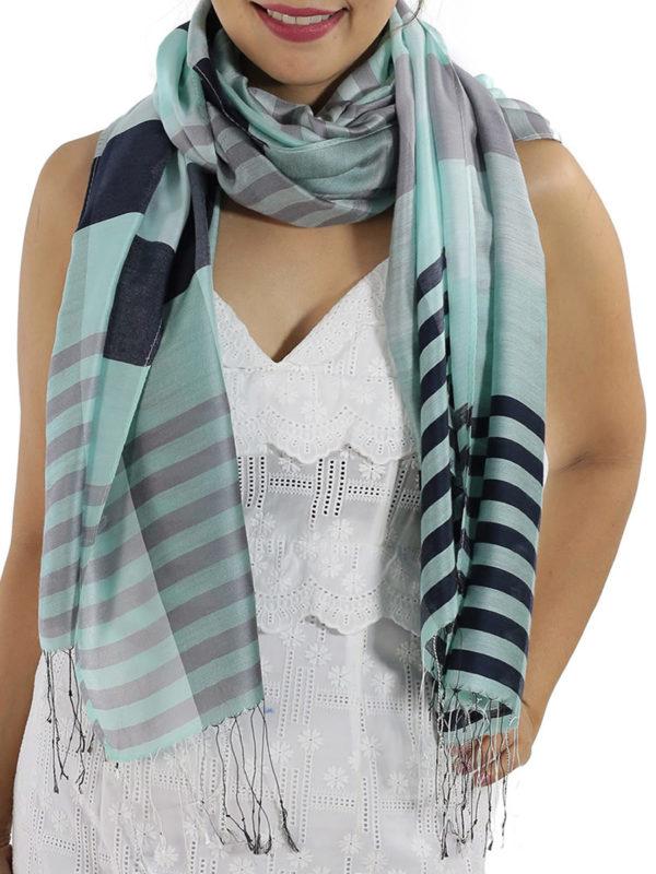 blue plaid scarves 1