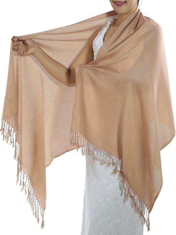 brown cashmere scarf 1