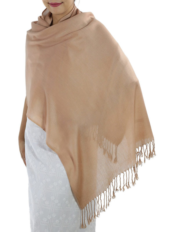 brown cashmere wrap