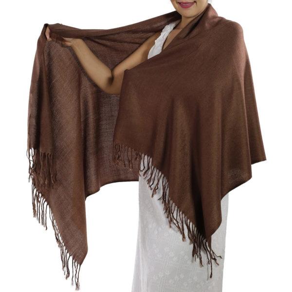 brown pashmina scarf