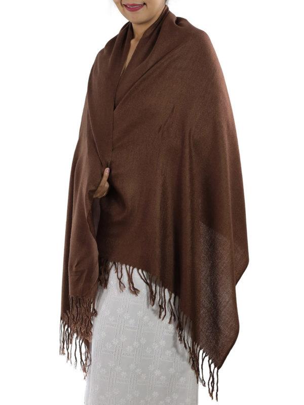brown pashmina shawl
