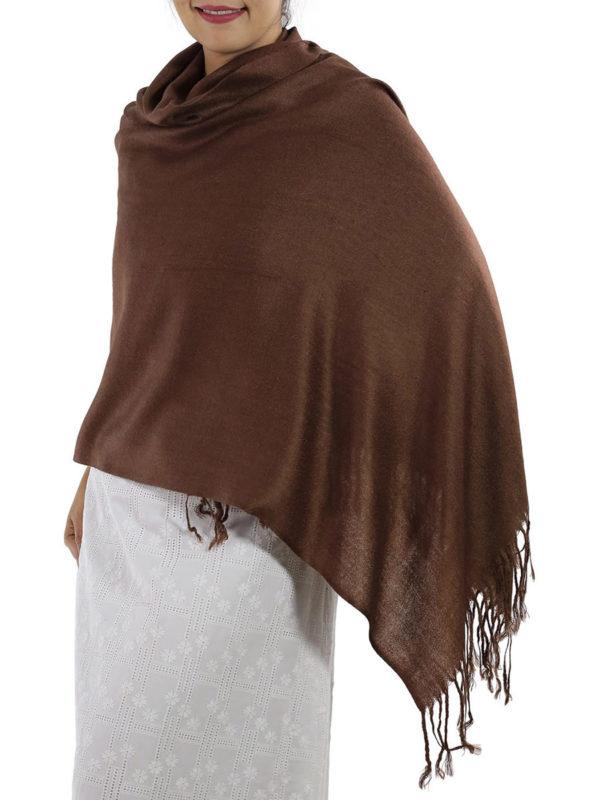 brown pashmina wrap
