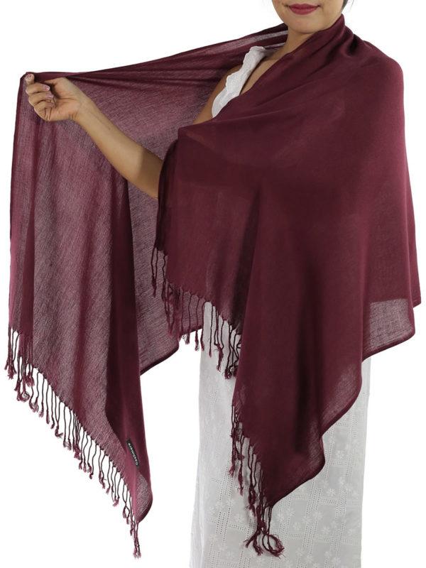 burgundy cashmere scarf 1