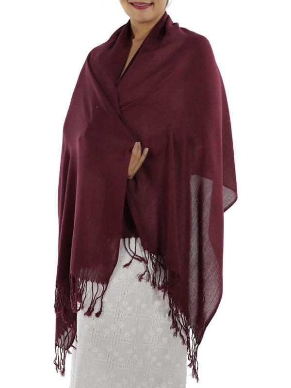 burgundy cashmere shawl