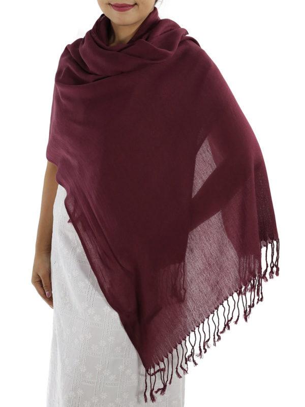 burgundy cashmere wrap