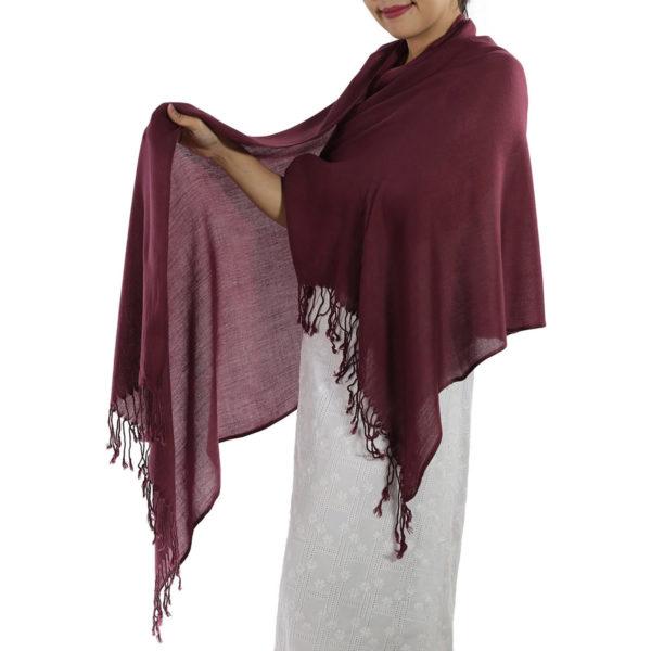 burgundy pashmina scarf 1