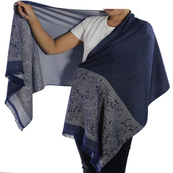buy blue silk scarf