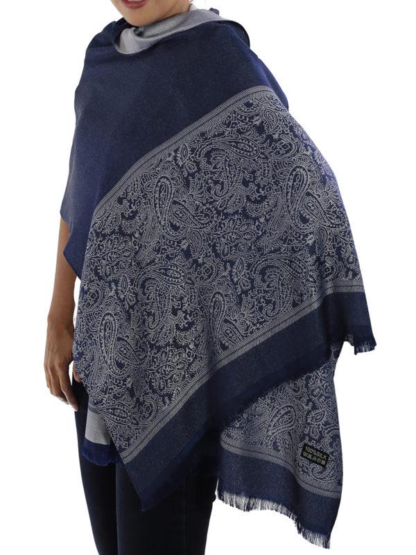 buy blue silk scarves