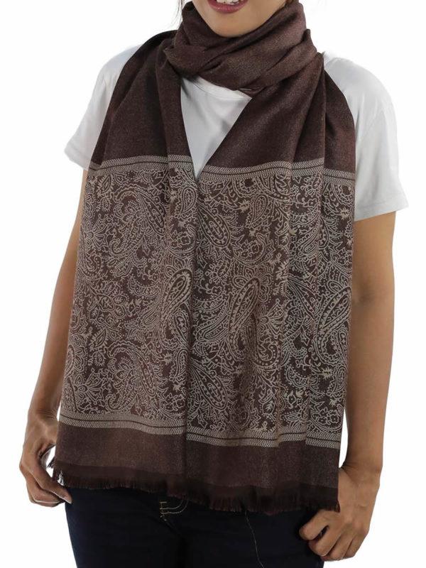buy brown silk shawls
