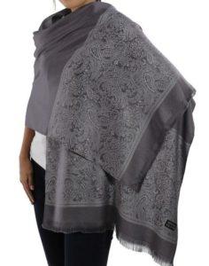 buy grey silk scarves