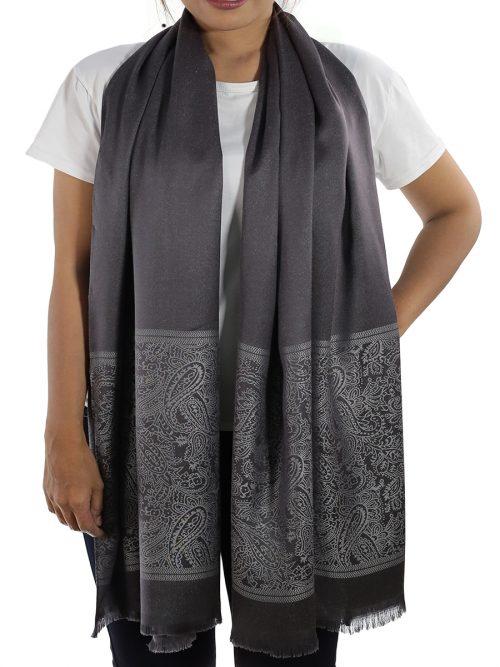 buy grey silk shawls
