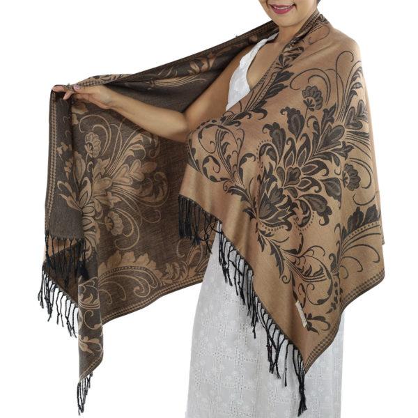 buy light brown pashmina scarf