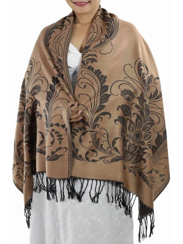 buy light brown pashmina shawl