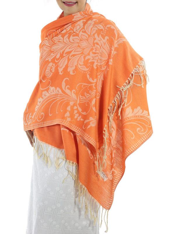 buy orange pashmina scarves