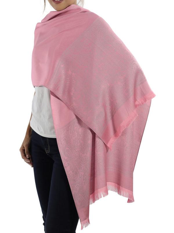 buy pink silk scarves