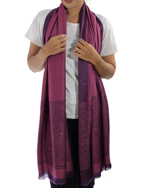 buy purple silk scarves