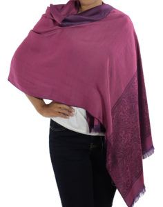 buy purple silk shawl