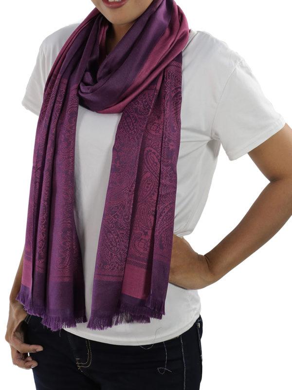 buy purple silk shawls
