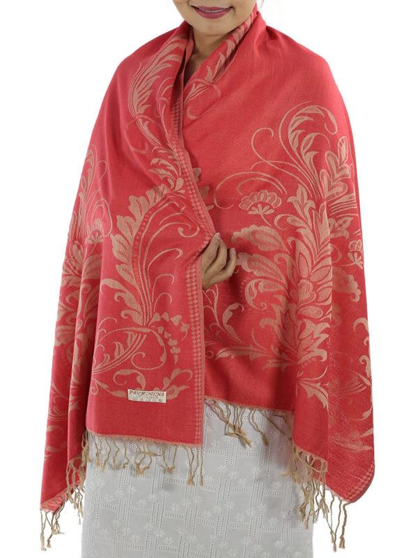 buy red pashmina shawl