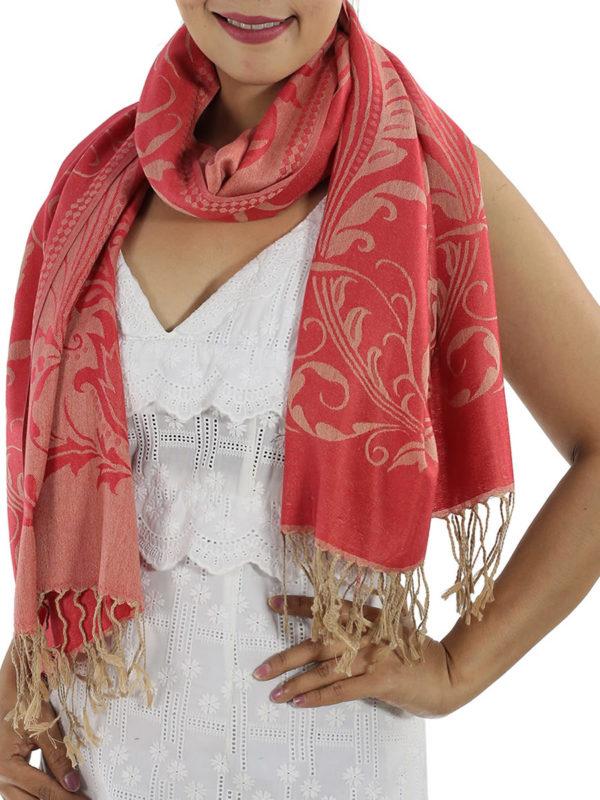 buy red pashmina wrap
