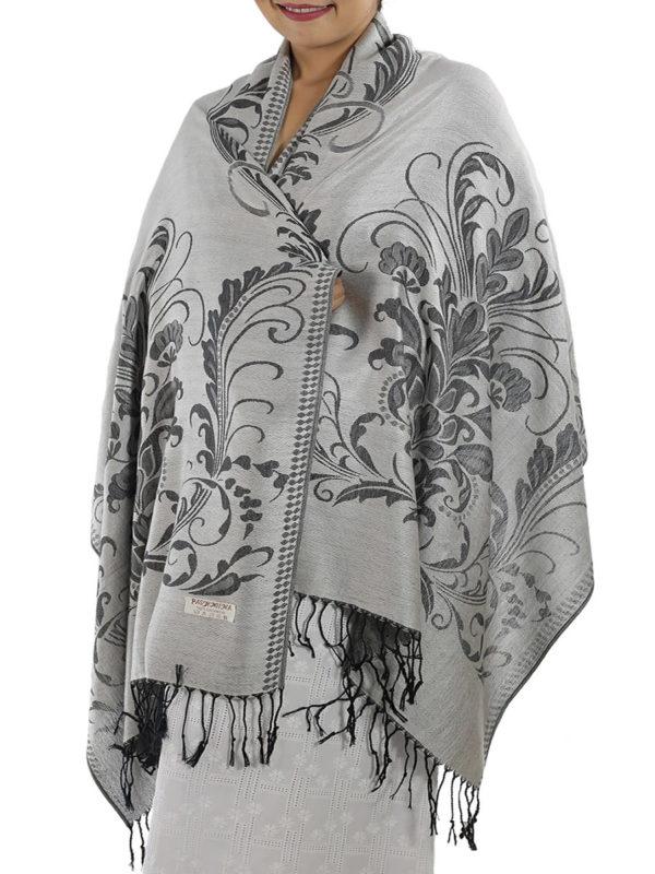 buy silver pashmina shawl