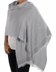 buy silver silk scarves
