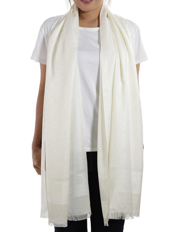 buy white silk shawl