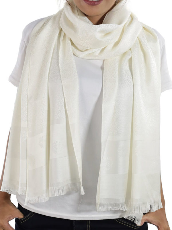 buy white silk shawls