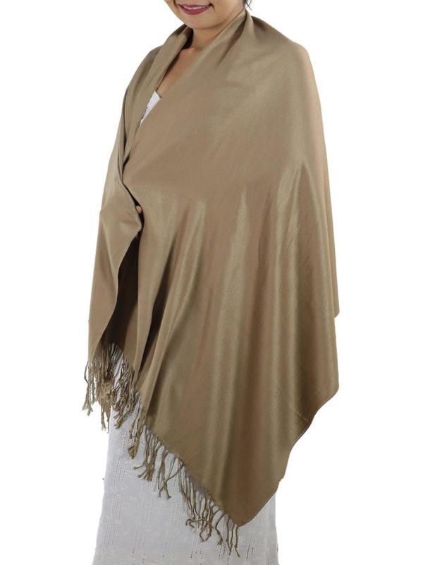 caramel pashmina shawl