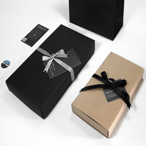 custom gift wrapped silk scarf