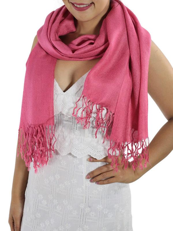 hot pink pashminas